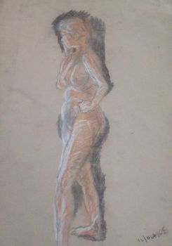 conte lifedrawing by Jodies-Baps