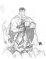 Wolverine vs Superman 2 by sketchheavy