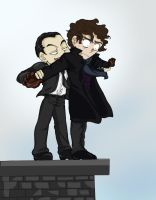 Jim and Sherlock by Galaxia0