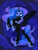 Nightmare Moon by SeaGerdy