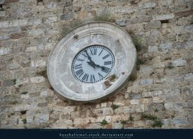 the clock on the wall by kuschelirmel-stock