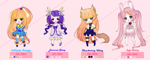 :: Kemonomimi Adoptables :: CLOSED by Yumeaya