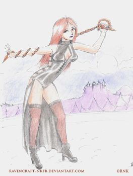 Roxio Red Whip Sketch by ravencraft-nkfb