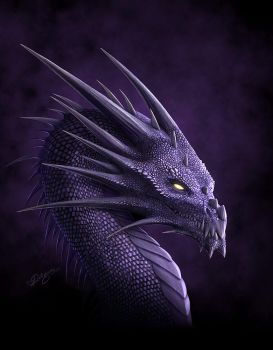 Purple Dragon by Deligaris