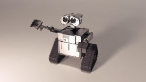 WALL-E 3D model WIP by MishaART
