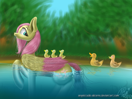 Fluttershy duck by AngelStudio-Alicorns