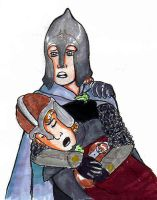 Merry and Pippin in battle by bachel60