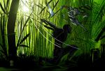 Snake Eyes vs Lady Shiva by Theamat