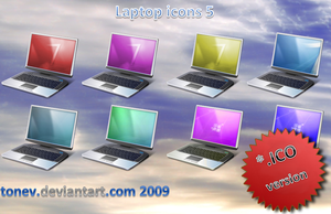 Laptop icons 5 in .ico by tonev