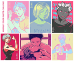Haikyuu color palette challenge by Jeannette11