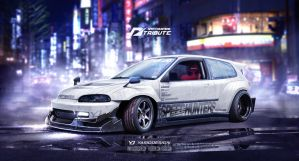 SpeedhuntersHonda Civic EG6 Need for speed tribute by yasiddesign