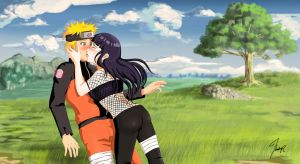 the first kiss naruto-kun by crazychivi