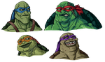More Beautiful Ninja Turtles by RainDante