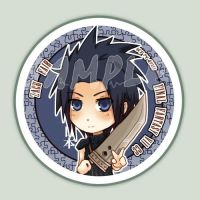 FINAL FANTASY VII Zack button by Quiss