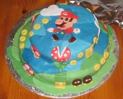 Mario Cake by InvaderTrouble