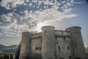 Castle and Light by Aneede