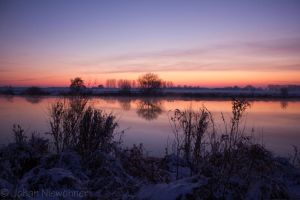 Sunset at the Deelenkanaal by jochniew