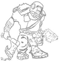Ork Uncolored by Bisquikk