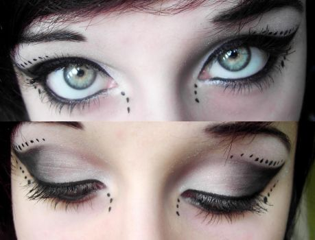 Cyber Gothic Make-up~ by MarieMystery