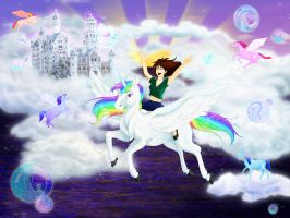 Into The Land of Unicorns by KM-Galleries