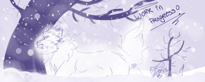 .:DotW:. .:Journey through the Snow:. WIPiness! by Wolf-Chalk