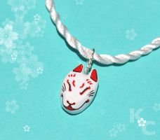Japanese Fox Necklace by KawaiiCulture