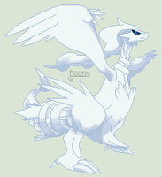 Pixel Pokemon - Reshiram by MoonIight-Eevee