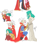 Kefka and Terra doodles by ClaraKerber