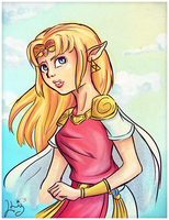 A Link Between Worlds: Zelda by LizbethLizard