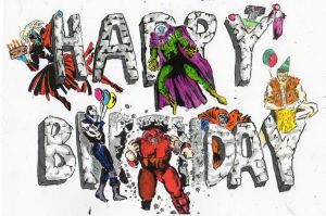 Birthday Villains by Dukester2000