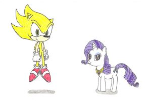 Sonic and Rarity - Super Forms by PhantomShadow051
