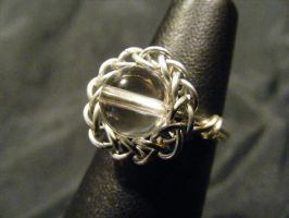 persian quartz ring by BacktoEarthCreations