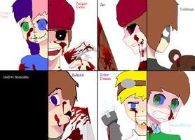 Evil youtuber slaughter party by HerobrineisMINE