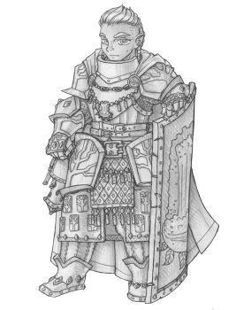 [COMMISSION] A'nole - Gnome Cleirc of Eldath by s0ulafein