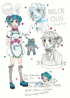 Reference Sheet - Balon-chan by SpookyChester