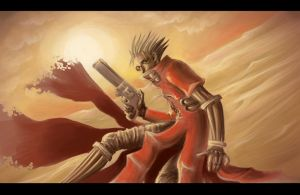 Trigun speedpaint 1 by Somebodystolemynick