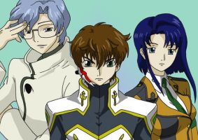 CG Suzaku, Lloyd and Cecil by AsherothTheDestroyer