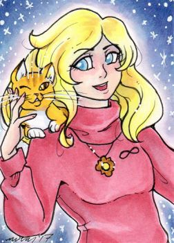 ACEO Sarah and Toby by nickyflamingo