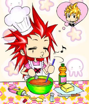 Axel is still cooking by LiaDeBeaumont