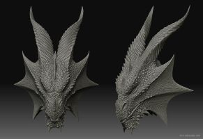 Dragon head 3D model by Deligaris