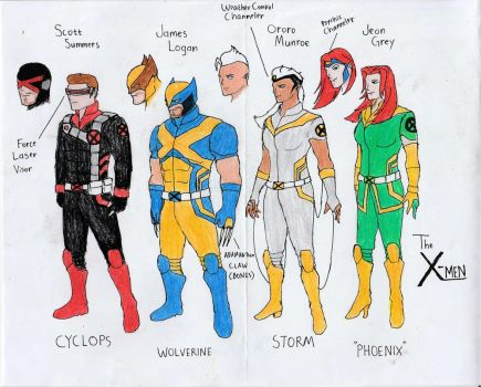 X-Men Redesign by Julalesss