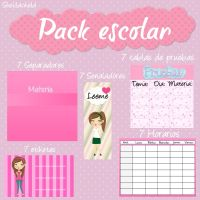 Pack escolar ! by Sheiilachela