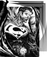 Superman and Luthor by DCU-Club