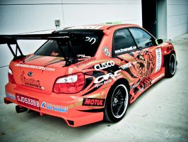 Team Orange Subaru Impreza 2 by ahmad0410