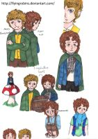 LotR Doodle Page by FlyingRobins