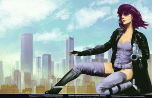 Motoko - Ghost in the shell Stand Alone Complex by duduOmag