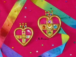 Sailor Moon S - manga, heart brooch - locket by Bunnymoon-Cosplay