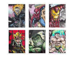 Jofel Cube Marvel Sketchcards sample by tikbaloycube