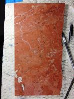 WIP - etching on red limestone by Mark-D-Powers