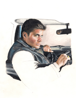 Jensen Ackles Colored Pencil by TattooSavage